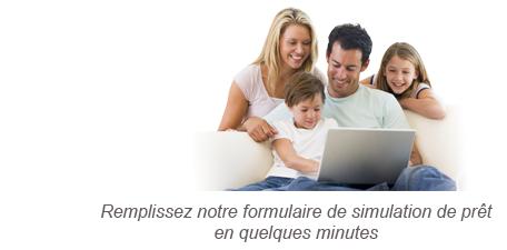 Calcul de prêt étapes 1: Remplissez notre formulaire de simulation de prêt en quelques minutes
